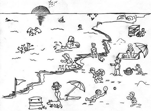 Dibujos de Paisajes, Paisajes para colorear pagina 2
