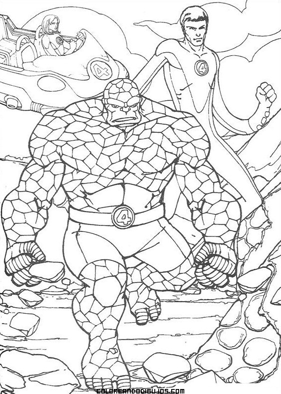 elastico superheroes coloring pages - photo#16