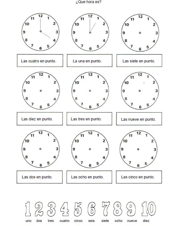 Dibujo de un reloj y sus partes  Imagui