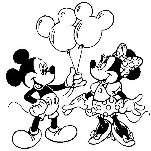 Cara de Mickey y Minnie para colorear - Imagui
