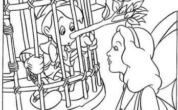 Dibujo Pinocho encerrado en una jaula