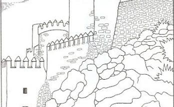 Dibujo La Alcazaba de Almería para colorear