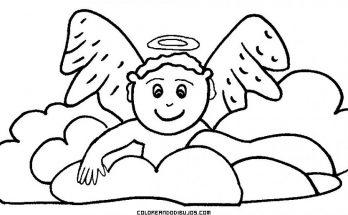 Dibujo Bebé angelito para colorear