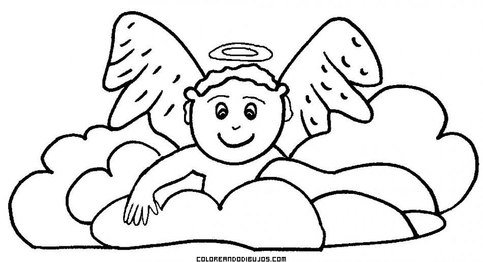 Bebé Angelito Para Colorear Dibujos Para Colorear
