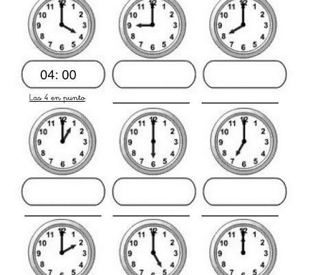 Aprende Las Horas Del Reloj Y Colorea Dibujos Para Colorear