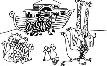 Dibujo Arca de Noé para colorear