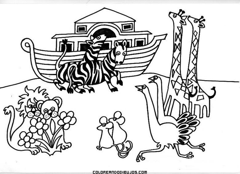 Arca De Noé Para Colorear Dibujos Para Colorear
