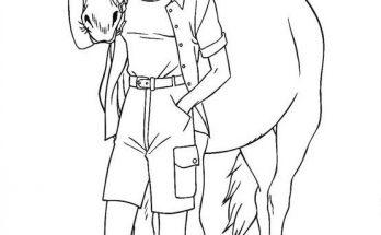 Dibujo Barbie y su caballo