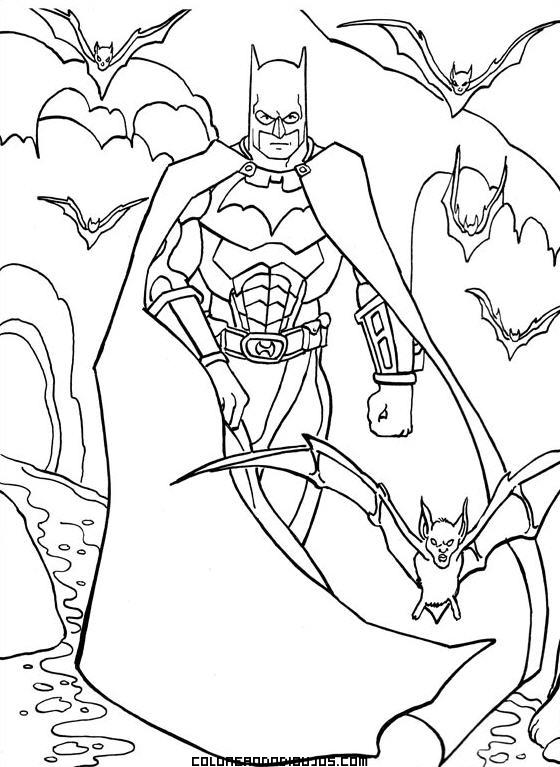 Batman Enfadado Para Colorear Dibujos Para Colorear