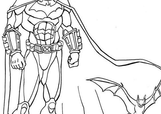 Batman Un Gran Superhéroe Dibujos Para Colorear