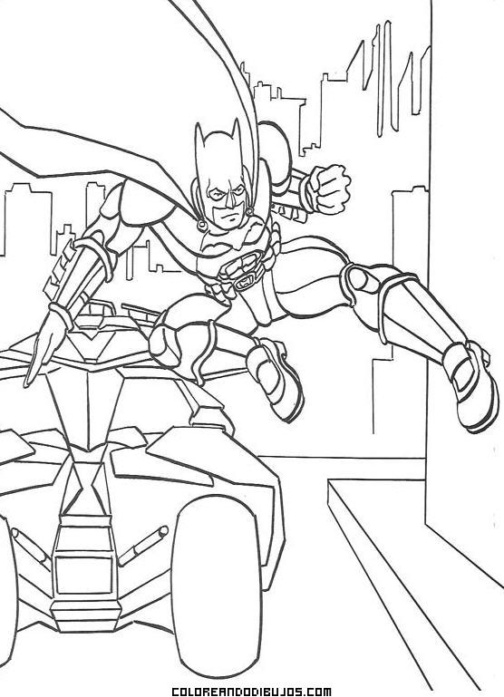 Batman En Acción Para Colorear Dibujos Para Colorear