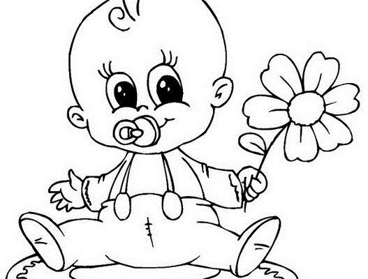 Dibujo Ternura de bebé para mamá
