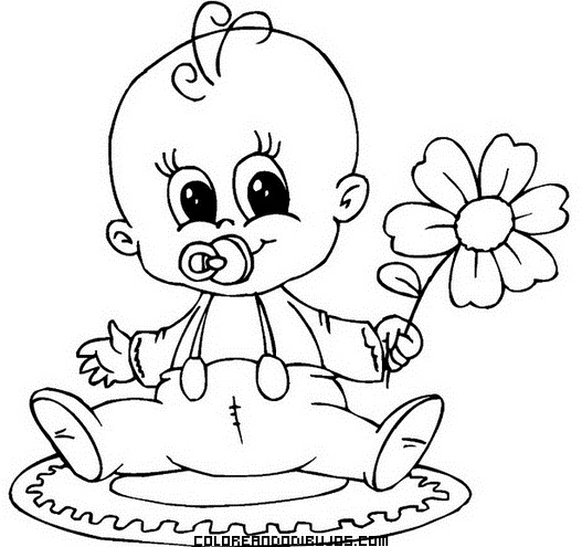 Ternura De Bebé Para Mamá Dibujos Para Colorear