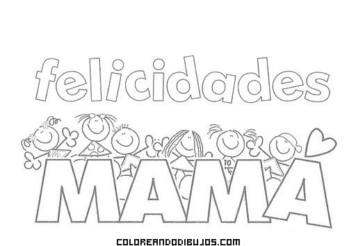 Dibujo Muchas felicidades mamá!