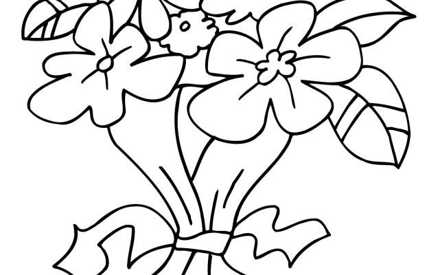 Dibujo Ramo de flores para coloroear