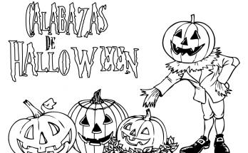 Dibujo Dibujo típico de Halloween