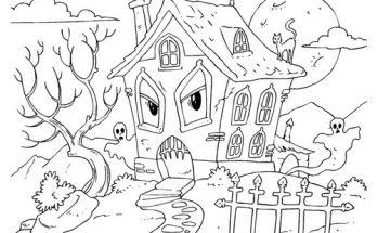 Dibujo Casa encantada enfadada