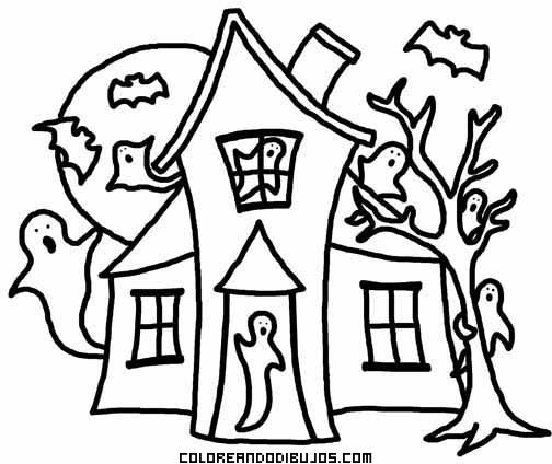 Casa Encantada Infantil Para Colorear Dibujos Para Colorear