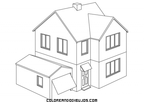 Casa Chalet Para Colorear Dibujos Para Colorear