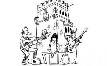 Dibujo Música en el castillo
