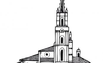 Dibujo Catedral para colorear