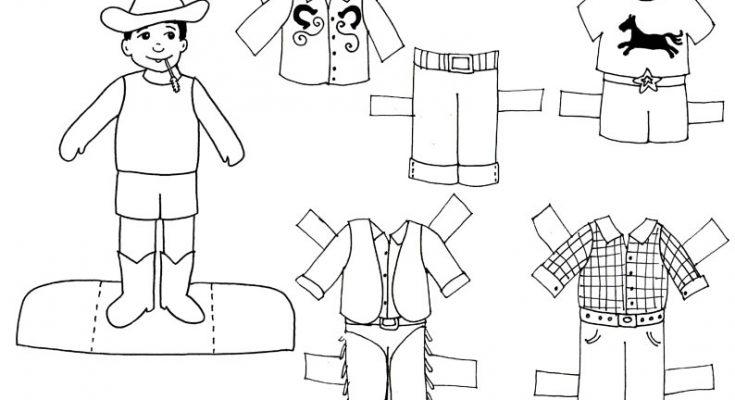 Chico Granjero Para Recortar Y Colorear Dibujos Para Colorear