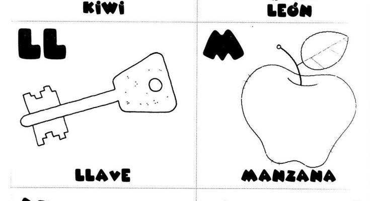 Letras K L Ll M N ñ Para Colorear Dibujos Para Colorear