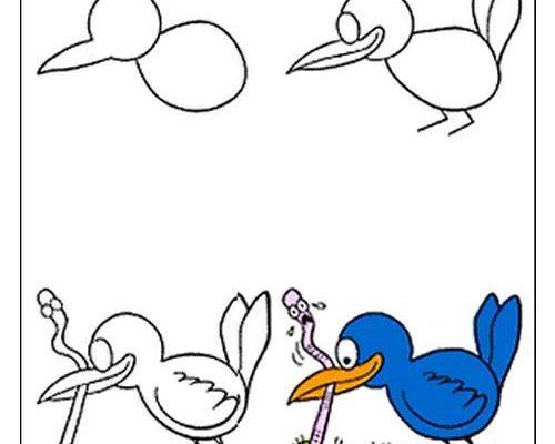 Dibujo Cómo dibujar al pájaro