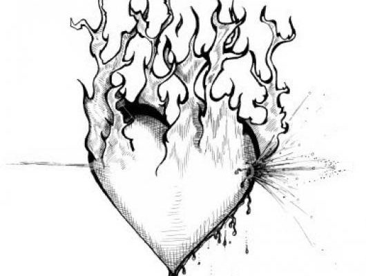 Dibujo El fuego de la pasión