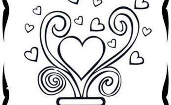 Dibujo Corazón para el día de San Valentín