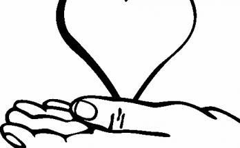 Dibujo Corazón en la palma de la mano