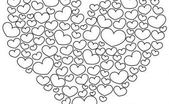 Dibujo Corazón relleno de cientos de corazones