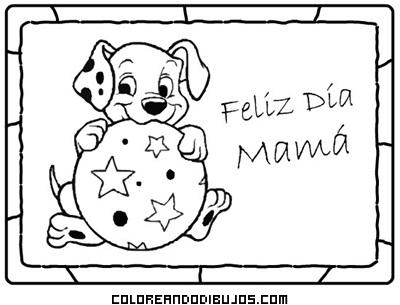 Dibujo Tarjeta para desear un feliz día de la madre