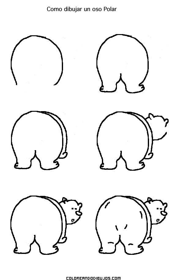 Cómo Dibujar A Un Oso Polar Dibujos Para Colorear