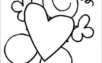 Dibujo Un gran corazón para mamá