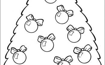 Dibujo Arbol de Navidad para colorear