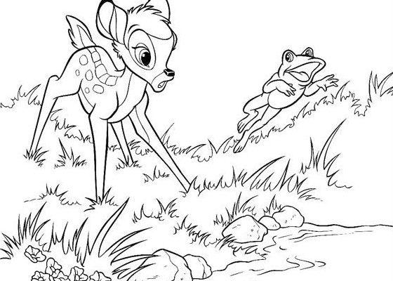 Dibujo Bambi sorprendido