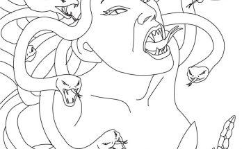 Dibujo Medusa mitológica para colorear