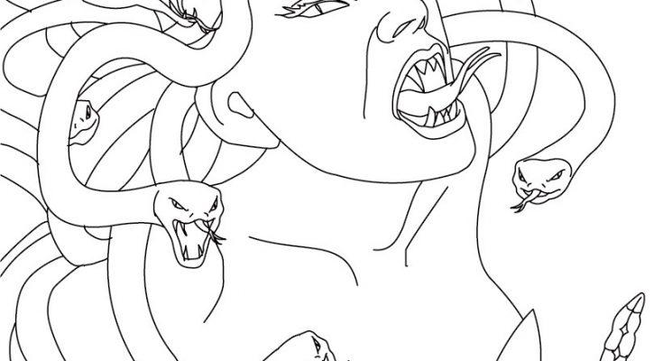 Medusa Mitológica Para Colorear Dibujos Para Colorear