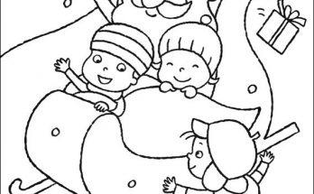 Dibujo El trineo de Santa Claus