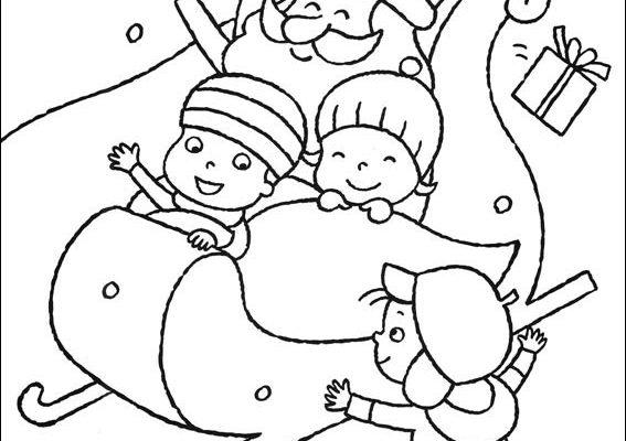 El Trineo De Santa Claus Dibujos Para Colorear