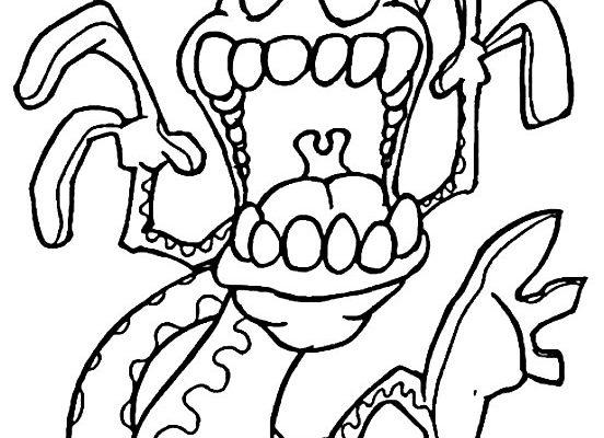 Lagartija Con Dientes Dibujos Para Colorear