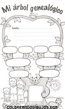 Arbol Genealógico Infantil Dibujos Para Colorear