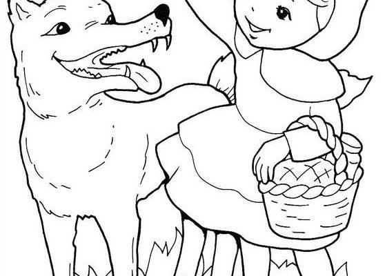 Caperucita Y El Lobo Para Colorear Dibujos Para Colorear