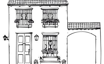 Dibujo Casa rústica para colorear