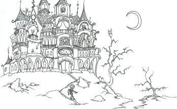 Dibujo Dibujo de castillo encantado para colorear
