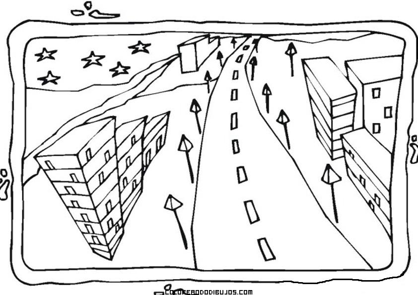 Paisaje De Ciudad Para Colorear Dibujos Para Colorear