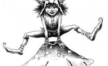 Dibujo Duende saltarín