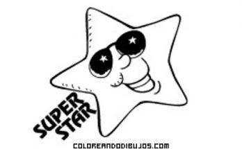 Dibujo Estrella Super Star para colorear
