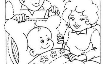 Dibujo Familia muy feliz para colorear